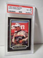 1990 Maxx Dale Earnhardt PSA NM-MT 8 Racing Card #3 NASCAR Collectible