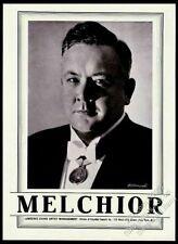 1943 Lauritz Melchior photo opera singing recital tour booking print ad