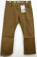New Signature Levi Strauss Mens Modern Straight Flex Stretch Khaki Jeans 38 x 30