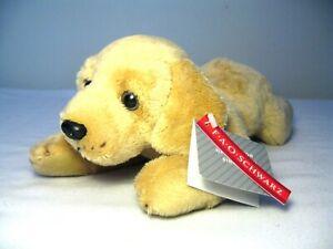 "FAO SCHWARZ LADDIE THE YELLOW LABRADOR DOG STUFFED PLUSH 12"" NWT"