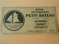 Pub Sous Vêtement Petit Bateau Hommes Dames Enfants Print 1954