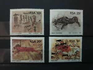 south west a - 1987 - Rock Paintings - 4 stamps  - MNH
