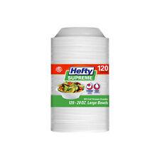 Hefty Supreme Foam Bowls Premium Soak Proof Durable Great