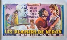 NERO'S MISTRESS Belgian movie poster 14x22 BRIGITTE BARDOT LINEN BACKED Rare