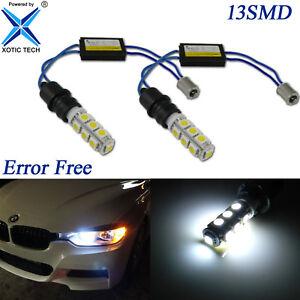 White 6000K Error Free BA9 64132 Bulbs Kit For BMW F30 3 Series Parking Lights
