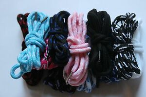 1 Pair 120cm Round Strong  Shoelaces 4mm Shoe Laces Football Boots Trainer Shoes