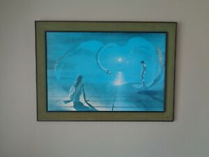 Large Original Wings Of Love Print Stephen Pearson Framed Swan Picture 42.5 x 30