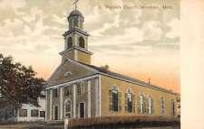 Wareham Massachusetts St Patricks Church Street View Antique Postcard K27448