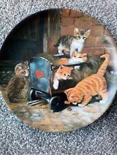 """Seltmann Weiden Cat Porcelain Plate """"die spiclkamesaden""""."""