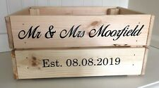 Personalised Wedding Crate Name & Date Sticker Bundle - DIY Wedding Box/Crate