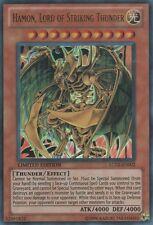 Yugioh Hamon, Lord of Striking Thunder LC02-EN002 Limited Ultra Rare Lightly Pla