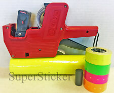 Mx 5500 8 Digits Price Tag Gun Labeler Labeller 5000 Yellow Labels Free Gift