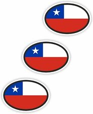 Nationality plate 3x Chile Stickers Car Stickers motorcycle