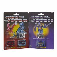 Transformers Vintage G1 Dinocassettes Gurafi Noizu Frenzy Reissue MOSC