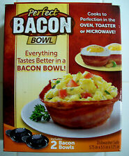 Perfect Bacon Bowl As Seen On TV Includes 2 Bowls NIB Sealed !!!