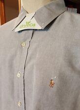 Ralph Lauren classic fit black label shirt men blue size 17 1/2 35/37 all cotton
