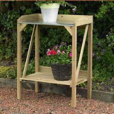 FIR WOODENT POTTING TABLE DECKING SHELF PLANTS TOOL ORGANISER OUTDOOR GARDEN NEW