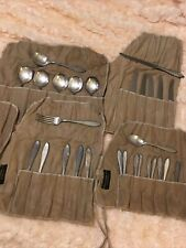 Lot of 28 silverware pieces anti-tarnish cloth's included Rogers Bros