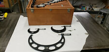 Starrett 436m 0 300mm Outside Micrometer Set Withetchings Amp Blue Paint Lot3