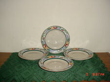 """4-PC TIENSHAN INTRO """"ORCHARD"""" 6 1/2"""" SAUCERS/STONEWARE/FRUIT-VARIOUS/CLEARANCE!"""