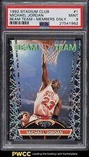 1992 Stadium Club Beam Team Members Only Michael Jordan #1 PSA 9 MINT