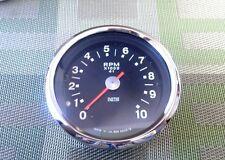 Smiths Tachometer, Black Face, Restored, RSM3003/13