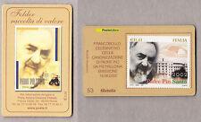TESSERA FILATELICA FRANCOBOLLO CANONIZZAZIONE PADRE PIO PIETRELCINA 2002 n. 53