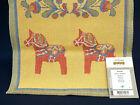Ekelund Sweden Swedish Dala Horse  Towel,  Wall Hanging, Table Decoration 14x20'
