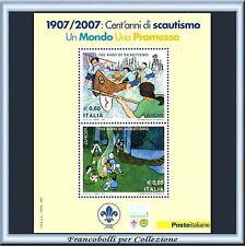 2007 Italia Repubblica Foglietto Europa Scautismo n. 51 Scout Nuovo Integro