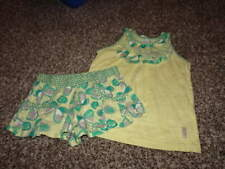 NAARTJIE M 5 YRS YELLOW GREEN FLORAL BUTTERFLY SHIRT AND SHORTS