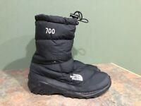 THE NORTH FACE 700 BLACK GOOSE DOWN WINTER BOOTS WOMENS SIZE 8