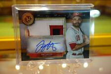 2020 Topps Museum Collection Joey Votto Jumbo Relic Patch Autograph 1/5! Reds!