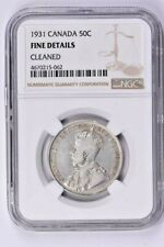 1931 Canada 50 Cents NGC Fine Details, Cleaned Witter Coin