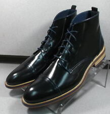 240915 ESiBT60 Mens Shoes Size 9 M Black Boots Made in Italy Johnston Murphy