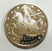 Oferta!!! Moneda £ 2 libras o 2,8 ecus Gibraltar 1992