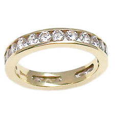 Anillo compromiso eternity de oro amarillo 18 ct con diamante talla 16 brillante