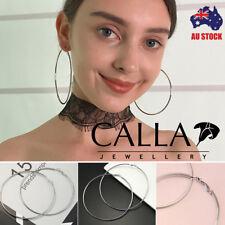 CALLA Fashion Women's 925 Sterling Silver Hoop Dangle Earrings Jewelry 50MM AU