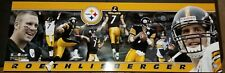 2004 Ben Roethlisberger Pittsburgh Steelers Unsigned Panoramic Photo 12X36