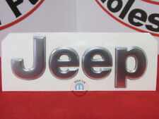 JEEP Bright Silver Front Hood Or Rear Liftgate Jeep Nameplate NEW OEM MOPAR