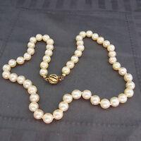 schöne echte Perlenkette mit Schloß in 585/-Gold Perlendurchmesser ca.7,8mm