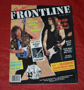 Fender Frontline Fall 1992 Volume 8 Skid Row Rock Magazine Retro