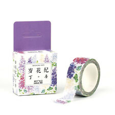 Floral Washi Sticker Decor Roll Paper Masking Adhesive Tape Crafts 1.5cm*7m