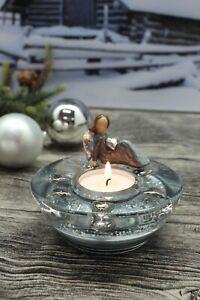 "Engel Teelichthalter Glas   ""Dreamlight"""