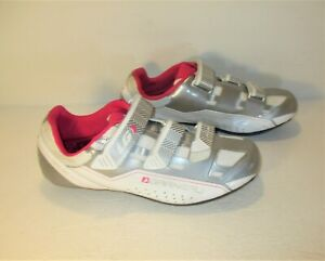 "New! GARNEAU ""Jade""  White Silver Pink Cycling Road Shoes Sz-10/EUR-40"
