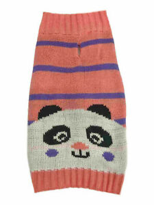 """Diva Dog Sweater Panda Bear Warm Pattern Large 22 to 27"""" inches neck to tail"""