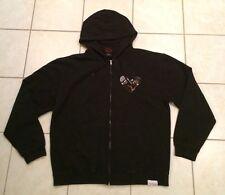 Men's Diamond Supply Co Zip Jacket Hoodie Black Graphic Heart Skateboard XL Swag