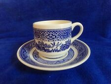 USA Blue Willow Cup and Saucer
