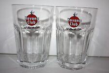 Havana Club Glasses x 2 Havana Rum Glasses Signature Under Label New