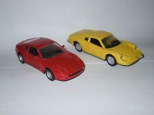 Lot voiture miniature model car Ferrari Dino 246GT 1/36 + 456 GT 1/39 Maisto