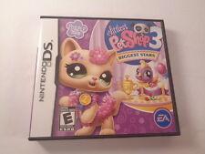 Littlest Pet Shop 3 Biggest Stars Purple Team Nintendo DS 2010 CIB Complete